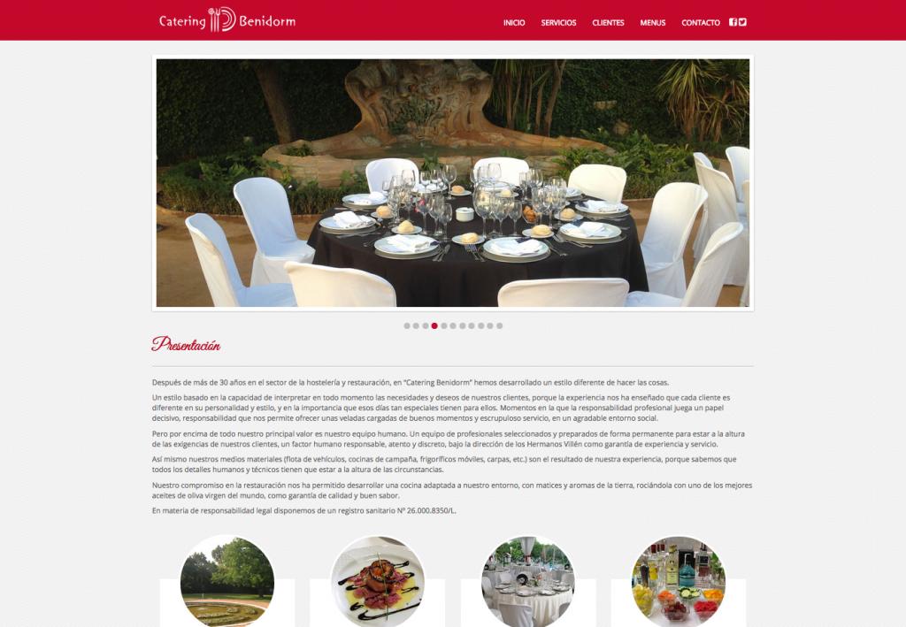 Diseño de página web para Catering Salones Benidorm