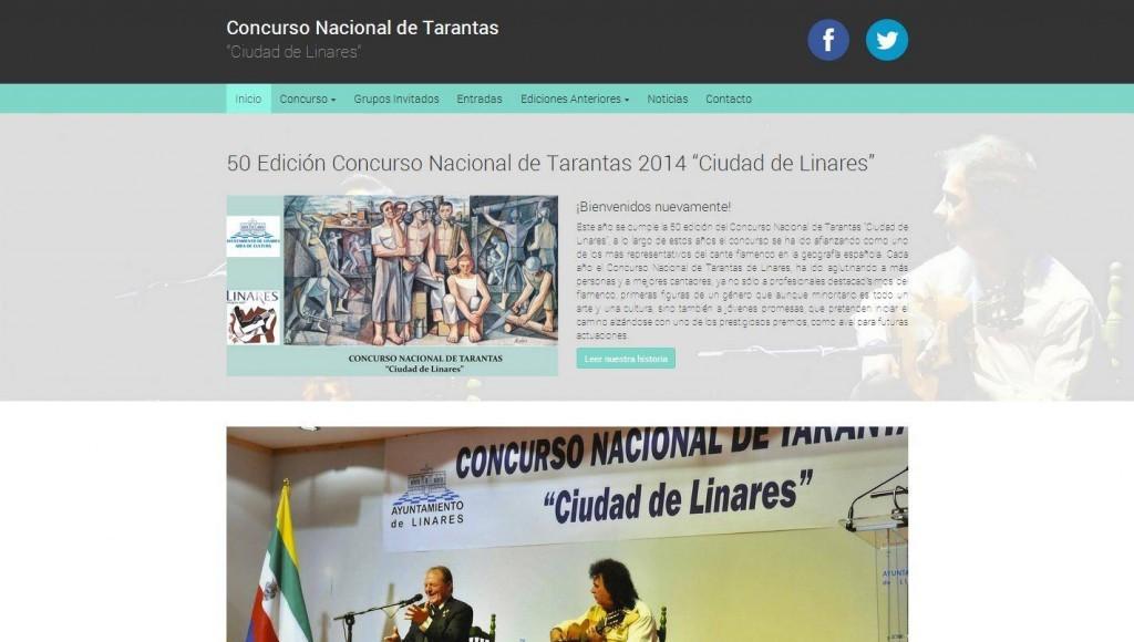 Diseño de página web Concurso Nacional de Tarantas de Linares