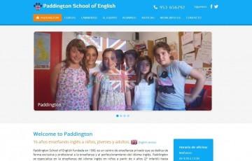 diseño web responsive para academia clases de ingles