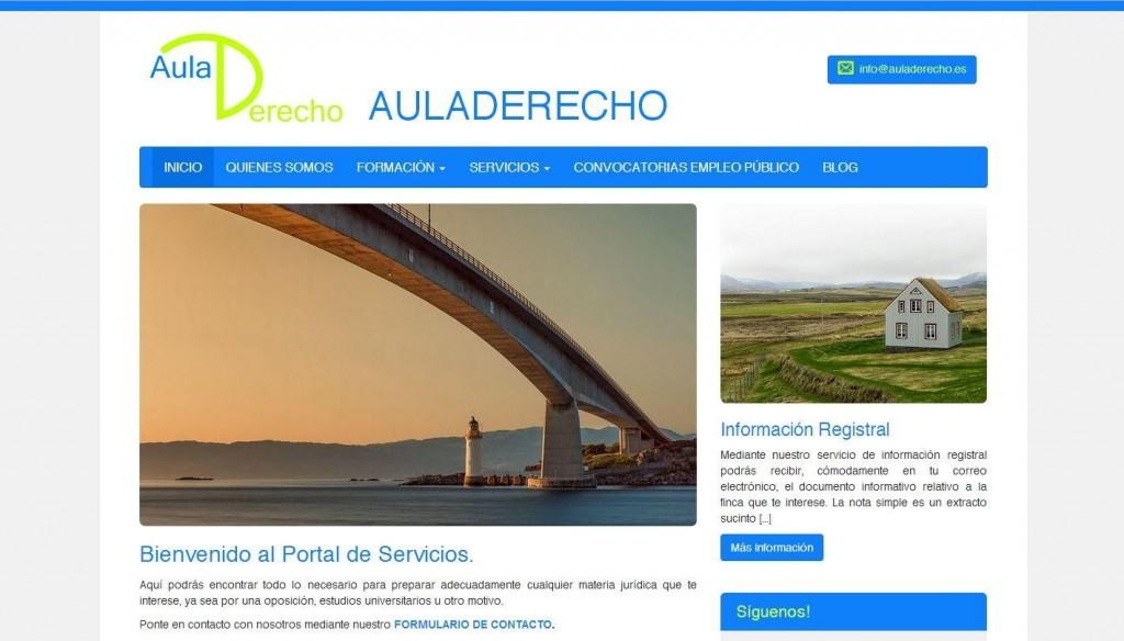 diseño web para centro preparador de oposiciones en Madrid