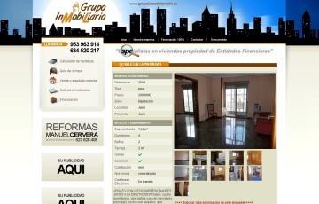 diseño de pagina web de inmobiliaria de Jaen Grupoinmobiliario ML
