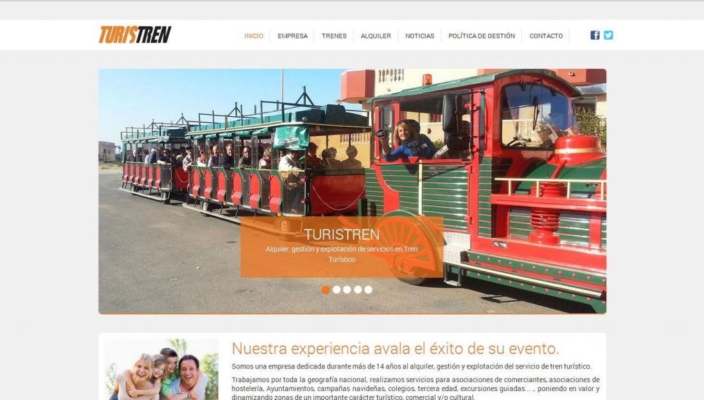 diseño web para empresa de servicios de transporte en tren para turistas y hoteles