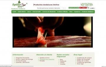 Diseño de tienda online de productos gourmet Apetito del Sur