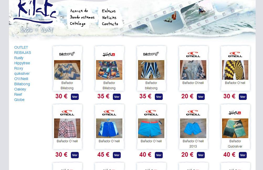 Creación de Tienda online de ropa y complementos Kilate