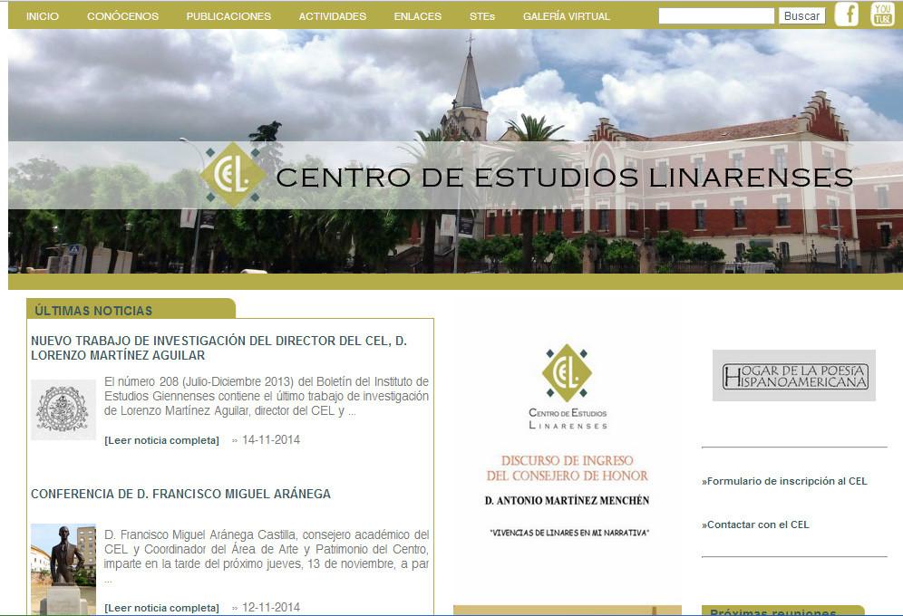 Diseño web para Centro de Estudios Linarenses