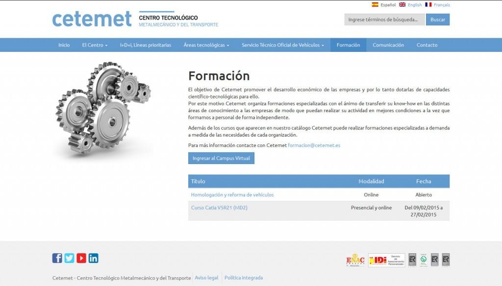 diseño pagina web responsive cetemet