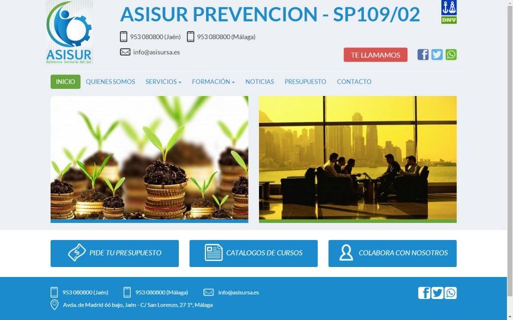 diseño web responsive PREVENCIÓN DE RIESGOS LABORALES Jaén Málaga