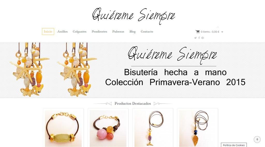 8793b2e02d1f Diseño de tienda online de venta bisuteria y complementos de moda ...