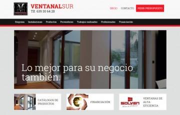 ventanal sur diseño pagina web responsive con wordpress para empresa de carpintería metálica