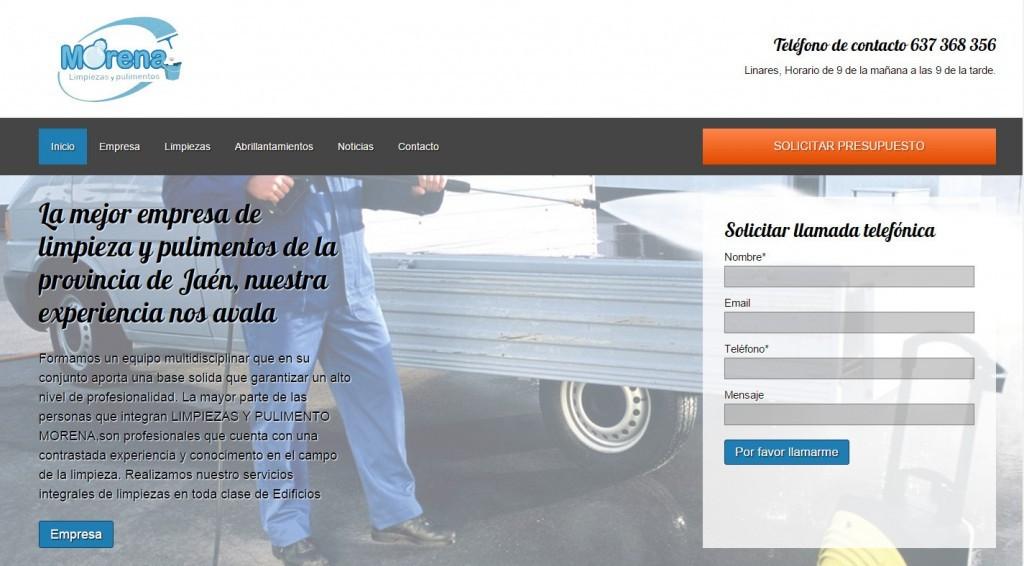 dise o web para empresa de limpiezas en ja n nexo virtual