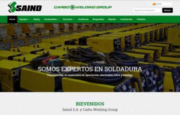 diseño web responsive Sevilla maquinas soldadura Saind