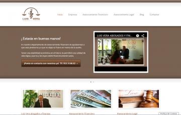 diseño pagina web asesores financieros Luis Vera Jaén
