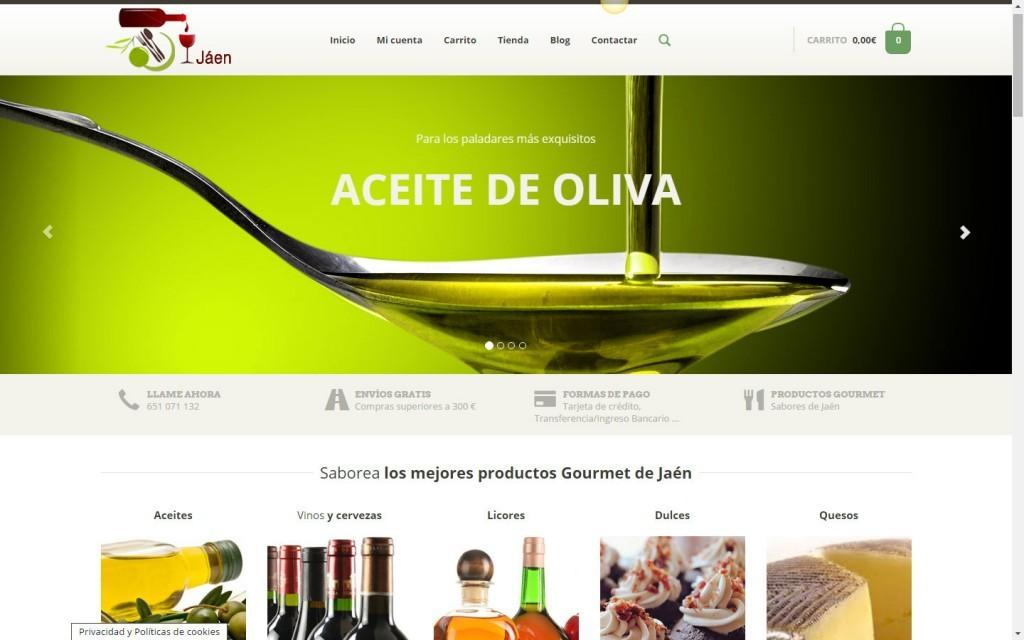 diseño de tenda online venta productos gourmet aceite de oliva aove Jaén