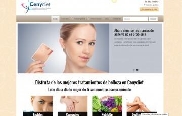 diseño web para clínica de medicina estética de Jaén Cenydiet