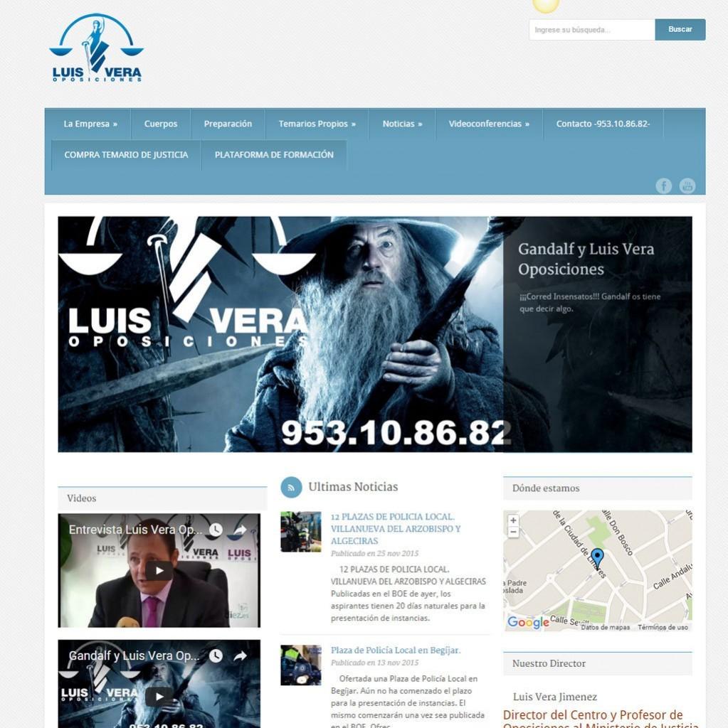 diseño página web Luis Vera centro preparacion oposiciones del estado en Ubeda Jaen