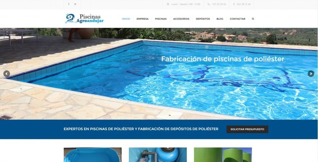 Dise o web para fabrica de piscinas de poliester for Fabrica de piscinas