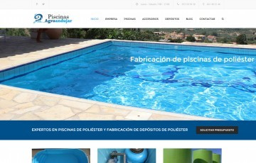 diseño web wordpress piscinas de poliester