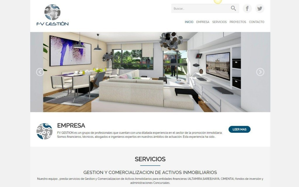 diseño web Madrid inmobiliaria