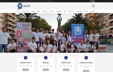diseño pagina web asociacion alac linares
