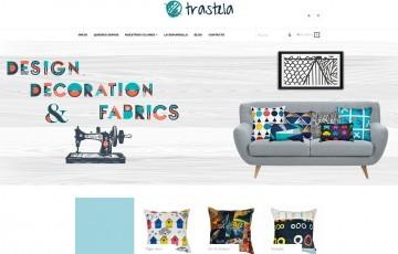 diseño de tienda online telas funas cojines juguetes