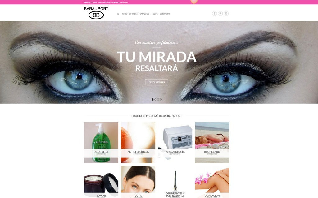 diseño pagina web Barcelona catalogo