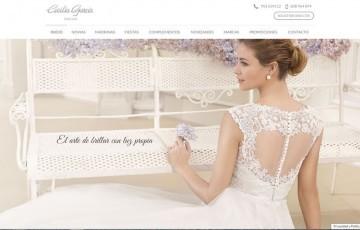 diseño pagina web vestido novias bodas