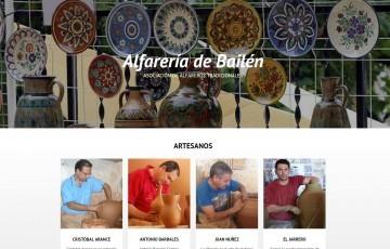 diseño de pagina web Bailen asociación alfareros