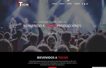 Diseño web Jaén espectáculos Tíscar