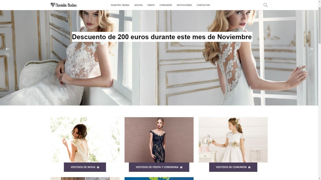 diseño tienda online Madrid novias