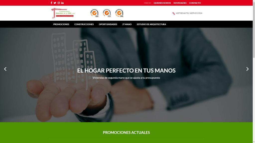 diseño web jaén promotora de viviendas