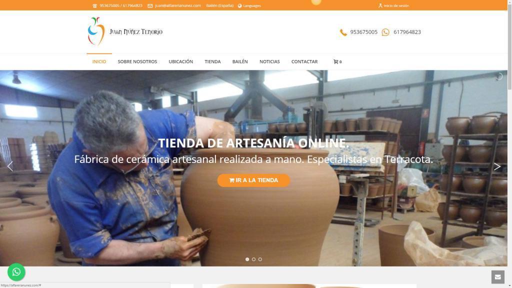 diseño tienda online alfareria ceramica