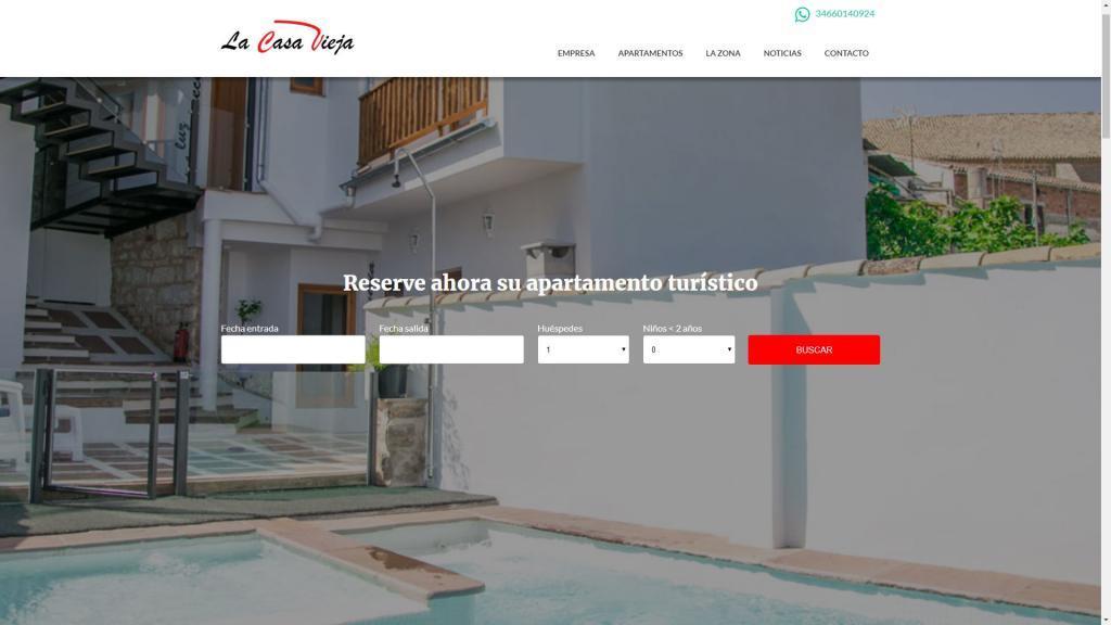 diseño web apartamentos de alquiler