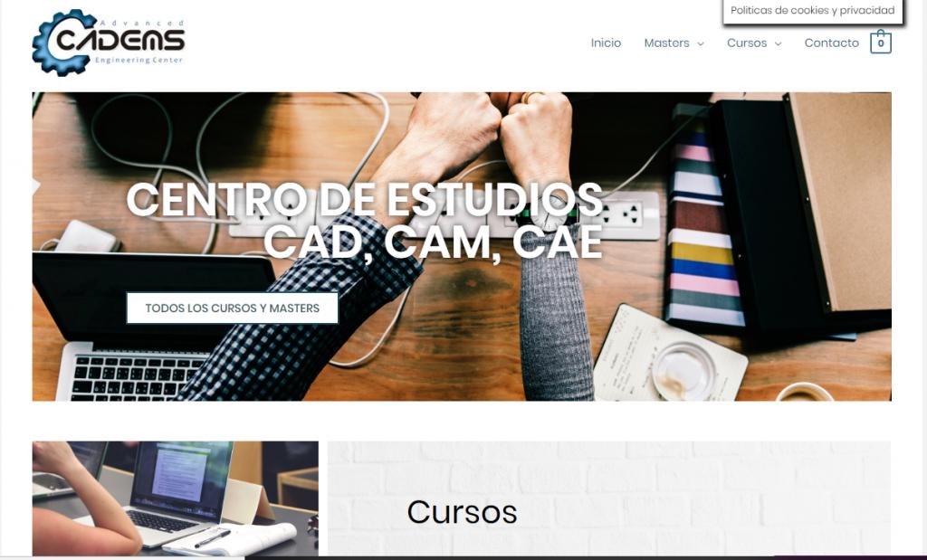 diseño de tienda online para centro de formacion