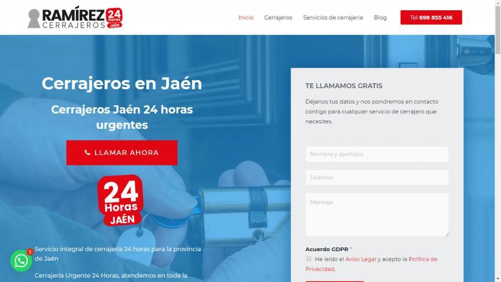 diseño web para cerrajeros en Jaén