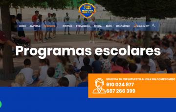 diseño web empresa organizar eventos y animación en Jaén