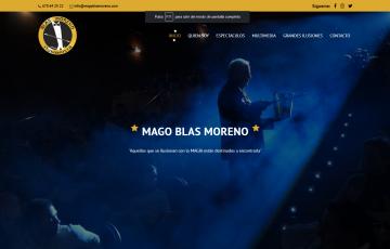 diseño web Jaén mago Blas ilusionista