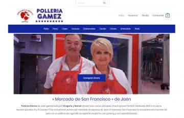 diseño web jaen para polleria mercado san francisco