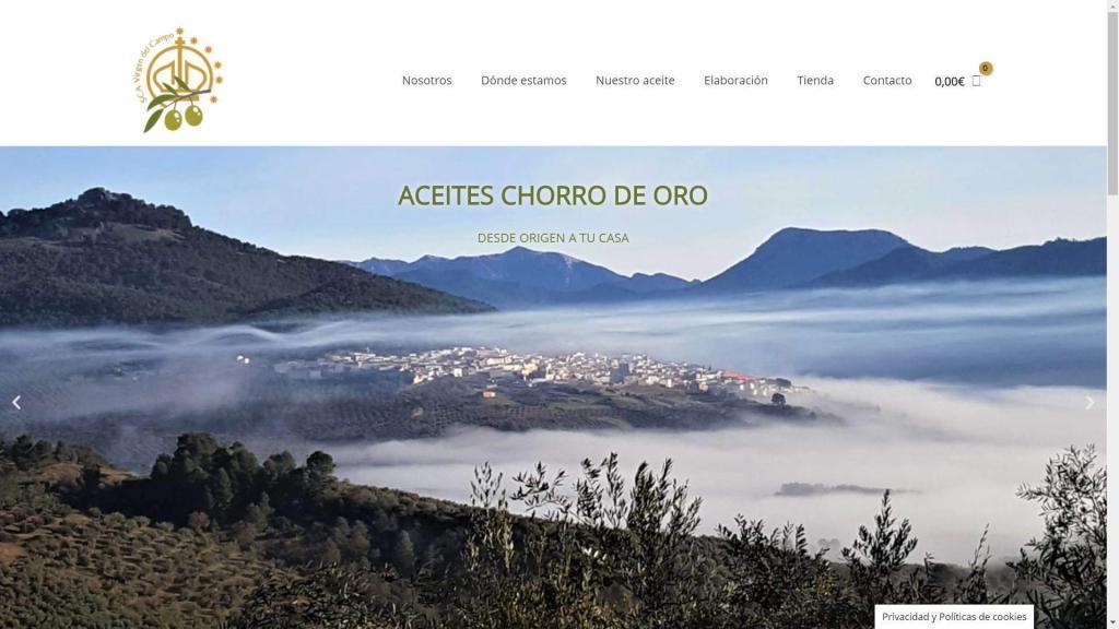 diseño de tienda online de aceite de oliva virgen extra do sierra de segura