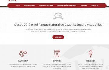 diseno web cafetería El Valle Serra Segura