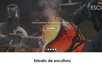 diseño web pagina escultura artesanía Jaén