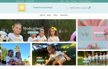 diseño de tienda online de moda infantil sol y topitos